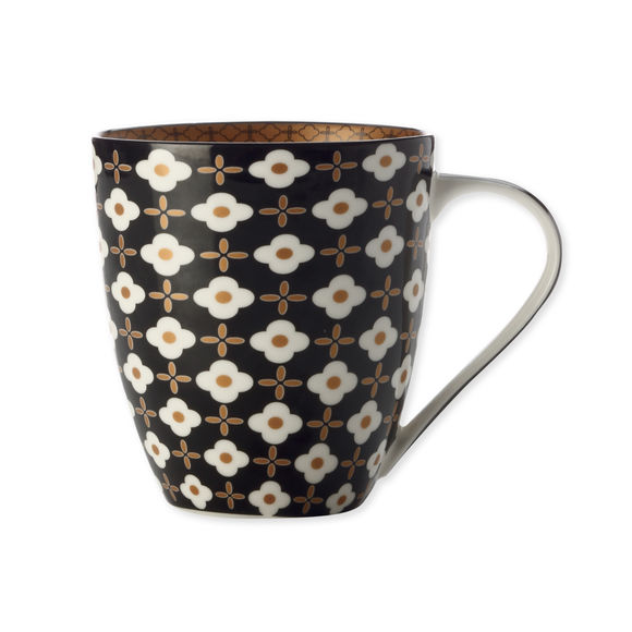 Mug en porcelaine fleur blanche 50cl