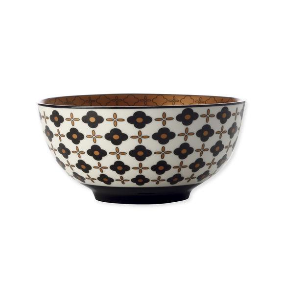 Coupelle en porcelaine fleur noire 15cm
