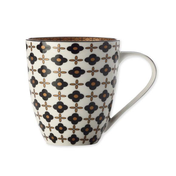 Mug en porcelaine fleur noire 50cl