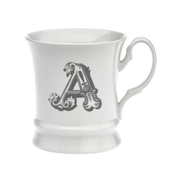 Mug en porcelaine 30cl - Lettre A