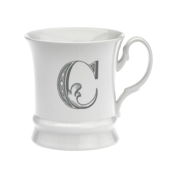 Mug en porcelaine 30cl - Lettre C