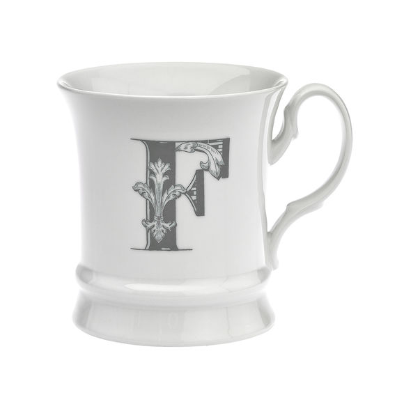 Mug en porcelaine 30cl - Lettre F