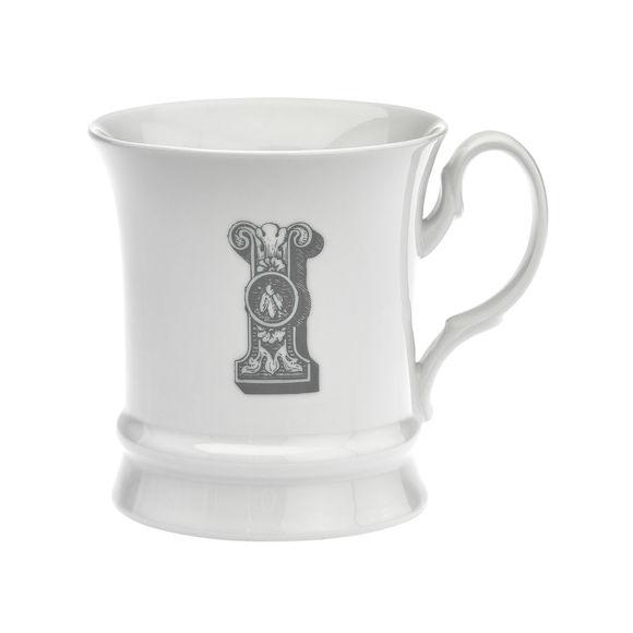 Mug en porcelaine 30cl - Lettre I