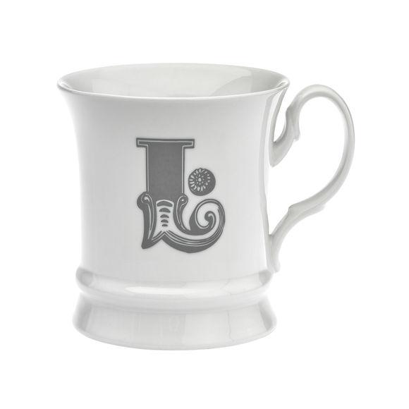 Mug en porcelaine 30cl - Lettre L