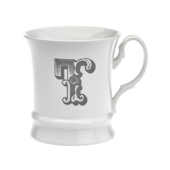 Mug en porcelaine 30cl - Lettre T