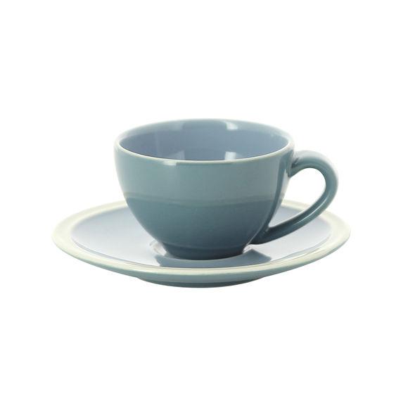 Tasse à expresso bleu en grès 10cl - Lot de 2