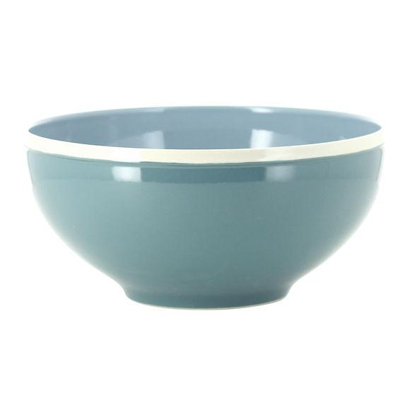 Saladier bleu en grès 24cm