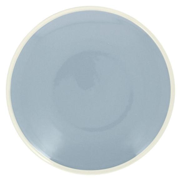 Plat rond bleu en grès 30cm