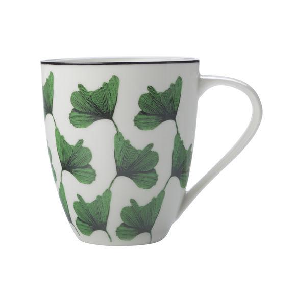 Mug en porcelaine décor vert 50cl
