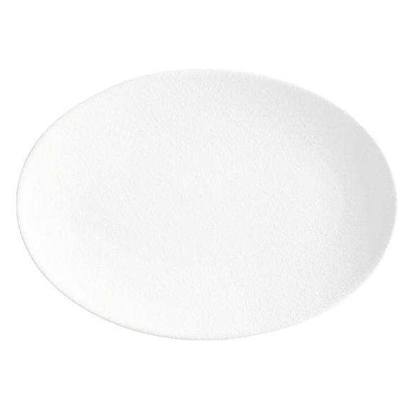 Plat ovale en porcelaine 35x25cm