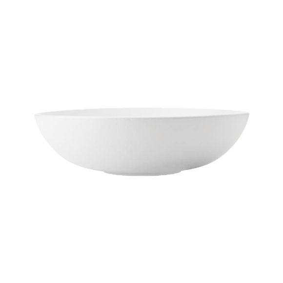 Plat ovale creux en porcelaine 25x17cm
