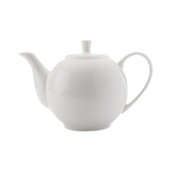 Théière blanche en porcelaine filtre inox 1,2L