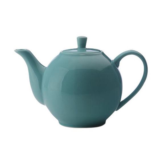 Théière bleue en porcelaine filtre inox 1,2L