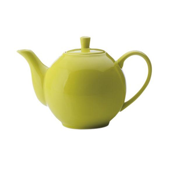 Théière vert anis en porcelaine filtre inox 1,2L