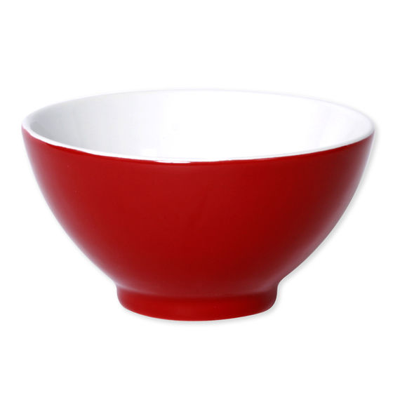 Bol rouge en porcelaine 55cl - Lot de 4