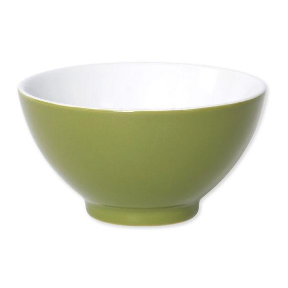 Bol vert en porcelaine 55cl - Lot de 4