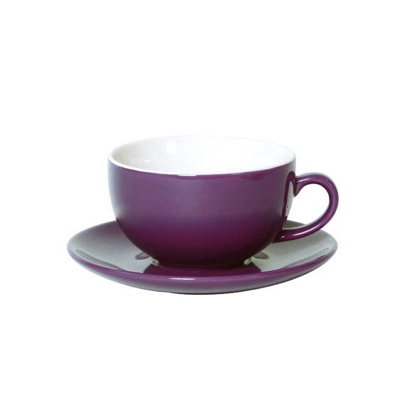 Tasse à déjeuner violet en porcelaine 32cl - Lot de 6