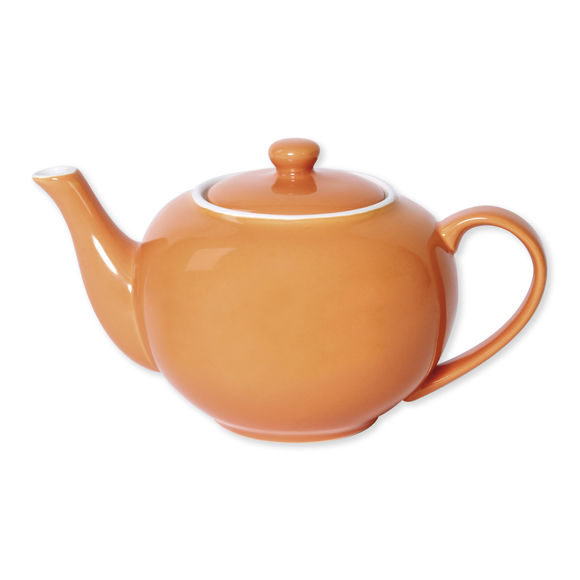 Théière orange en porcelaine 1,1L