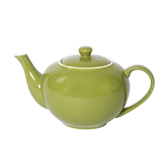 Théière vert en porcelaine 1,1L