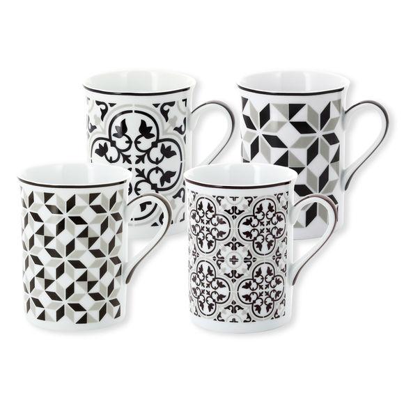 Mug en porcelaine 25cl - Coffret de 4