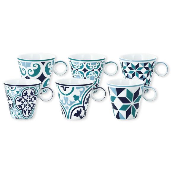 Tasse à café en porcelaine 12cl - Coffret de 6