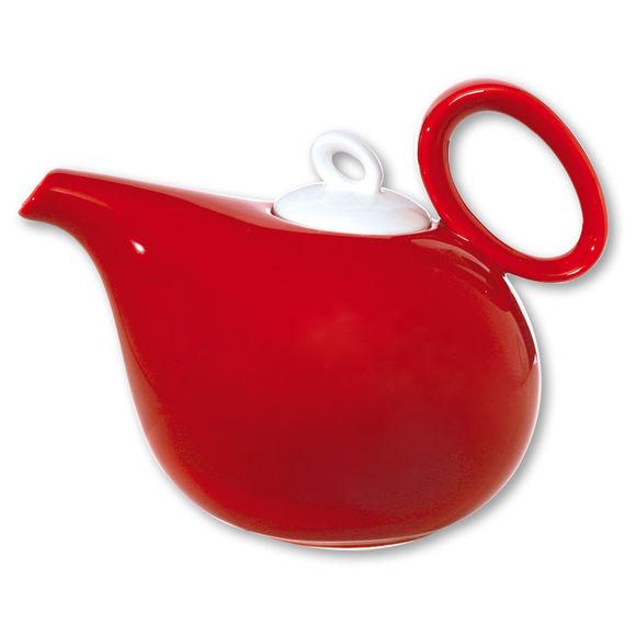 Théière rouge en porcelaine 1,1L