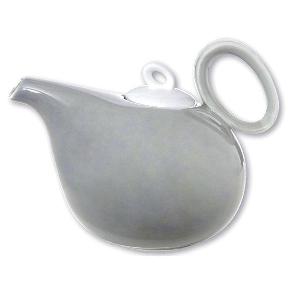 Théière gris en porcelaine 1,1L