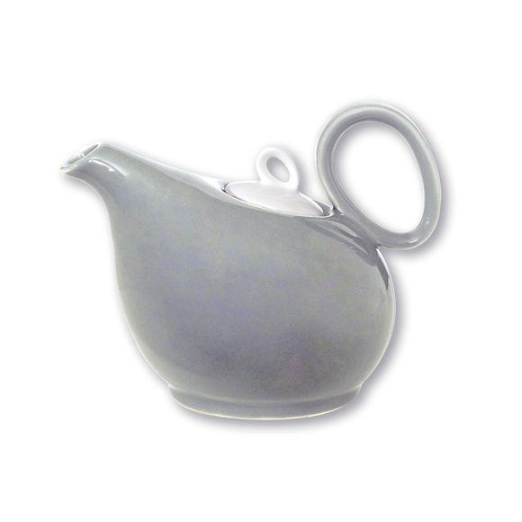 Théière gris clair en porcelaine 35cl