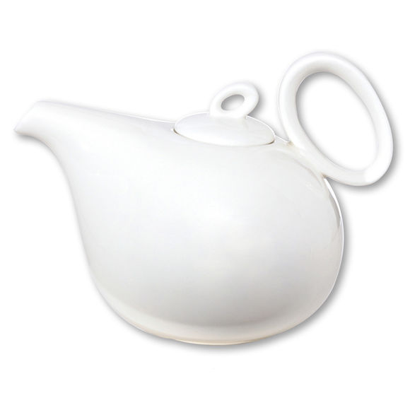 Théière blanche en porcelaine 1,1L