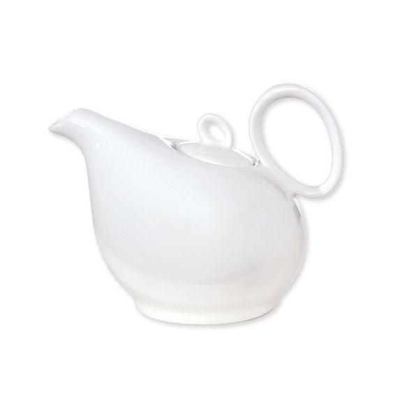 Théière blanche en porcelaine 35cl