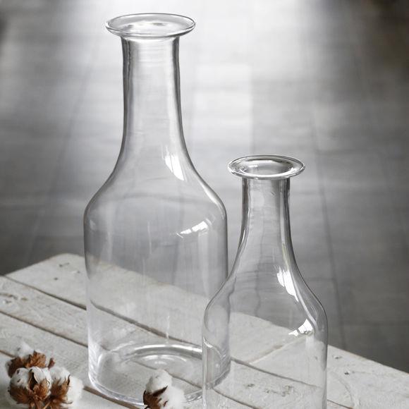grand vase bouteille en verre transparent vase design. Black Bedroom Furniture Sets. Home Design Ideas