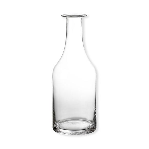 Vase bouteille en verre transparent 38cm