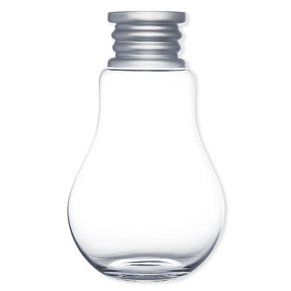 Vase en verre soufflé bouche forme ampoule 46cm