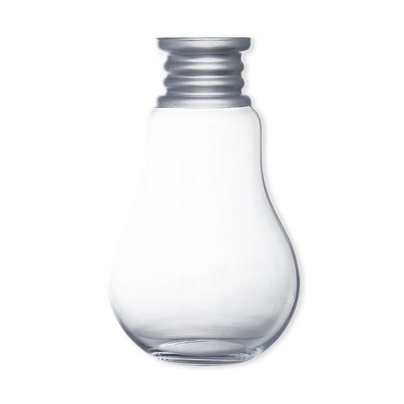 Vase en verre soufflé bouche forme ampoule 36cm