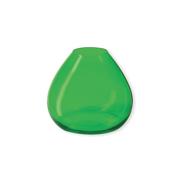 Vase vert en verre 18cm