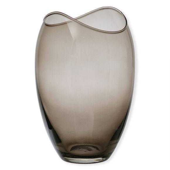 Vase en verre fumé 25,5cm