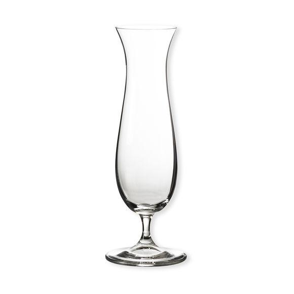 Vase soliflor transparent en verre 23cm