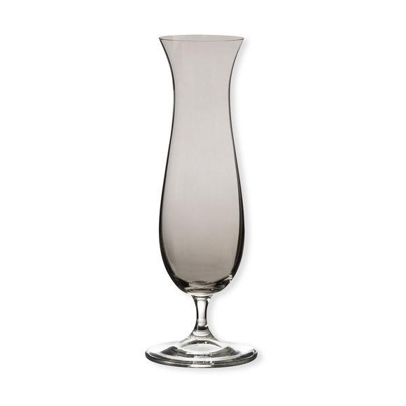 Vase soliflor fumé en verre 23cm