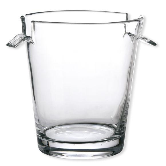 Seau à champagne en verre soufflé bouche 19cm