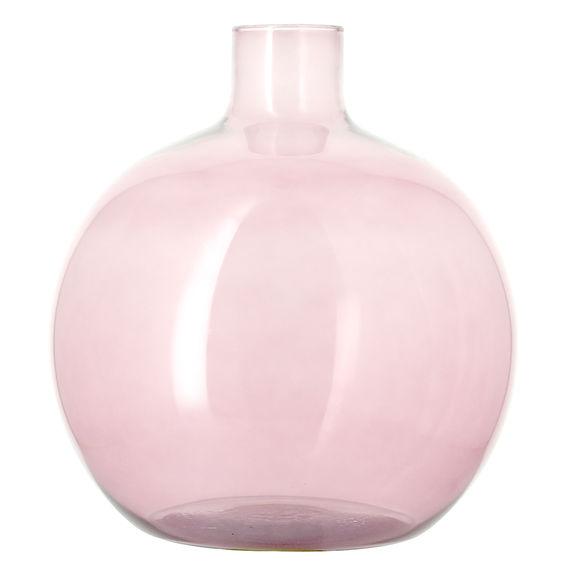 Vase dame-jeanne rose en verre recyclé 35cm