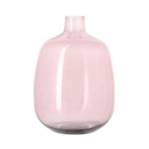 Vase dame-jeanne rose en verre recyclé 33cm