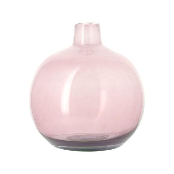 Vase dame-jeanne rose en verre recyclé 24cm
