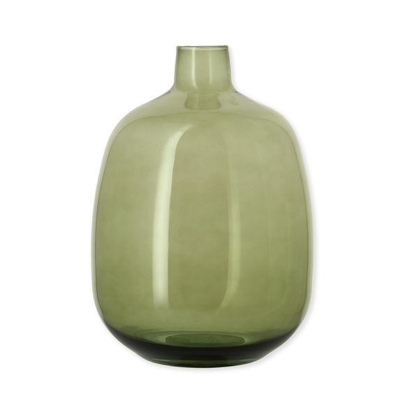 Vase dame-jeanne vert en verre recyclé 33cm