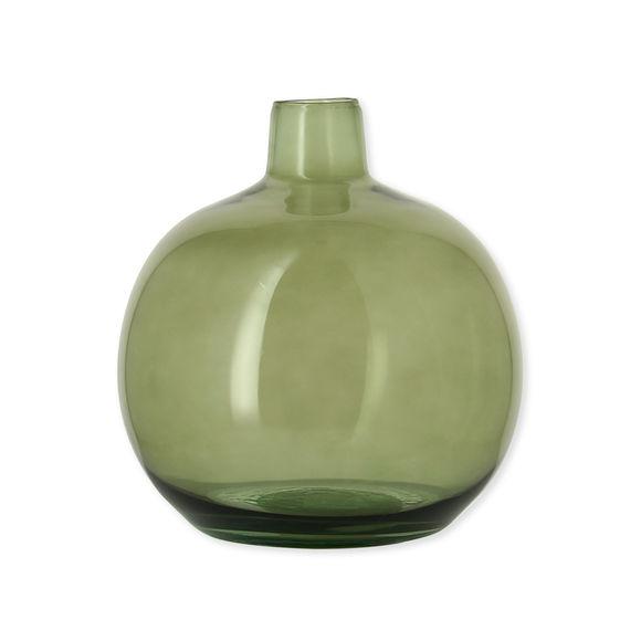 Vase dame-jeanne vert en verre recyclé 24cm
