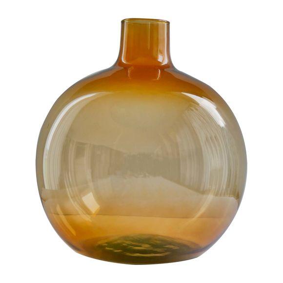 Vase en verre recyclé ambre Ht.35cm