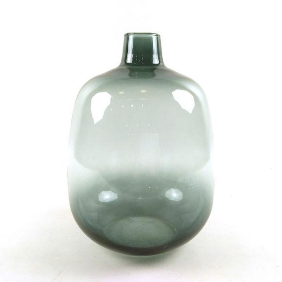 Vase en verre recyclé ambre Ht.33cm