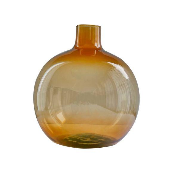 Vase en verre recyclé ambre Ht.24cm