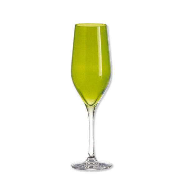 Flûte à champagne vert pomme 26cl