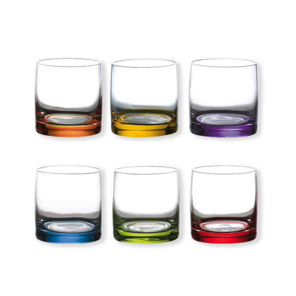 Verres à eau couleurs assorties 14cl - Lot de 6