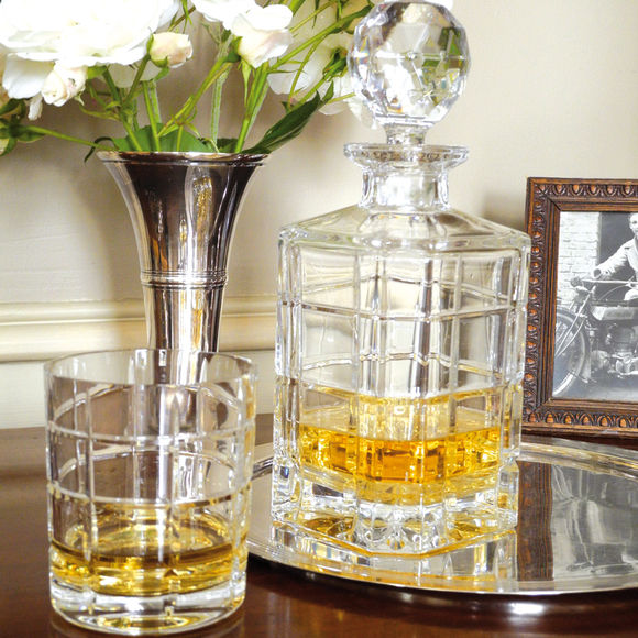 carafe whisky timesquare en cristal verrerie chic. Black Bedroom Furniture Sets. Home Design Ideas